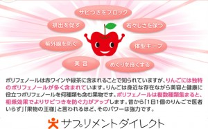 りんごポリフェノールについ